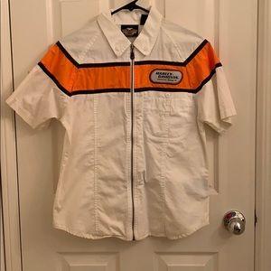 Vintage Harley Davidson zip-front shirt